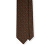 Brown Medallion Motif Wool Challis Tie