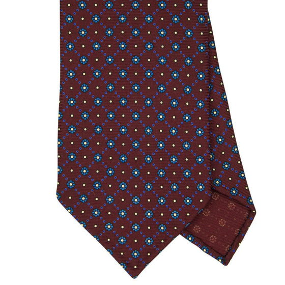 Wine Macclesfield Print 36oz Silk Ties 8cm W4 - Exquisite Trimmings