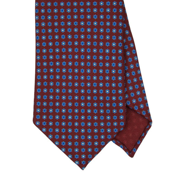 Wine Macclesfield Print 36oz Silk Ties 8cm W11 - Exquisite Trimmings