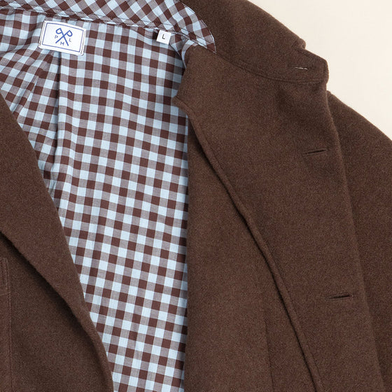 Brown Cashmere Overshirt