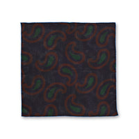 Reversible Paisley Box Silk Pocket Square