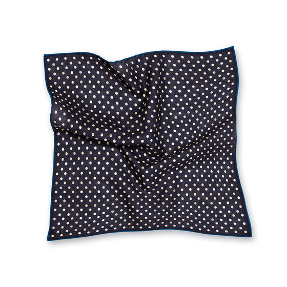 Reversible Spot Check Silk Pocket Square