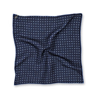 Reversible Medallion Neat Print Silk Pocket Square