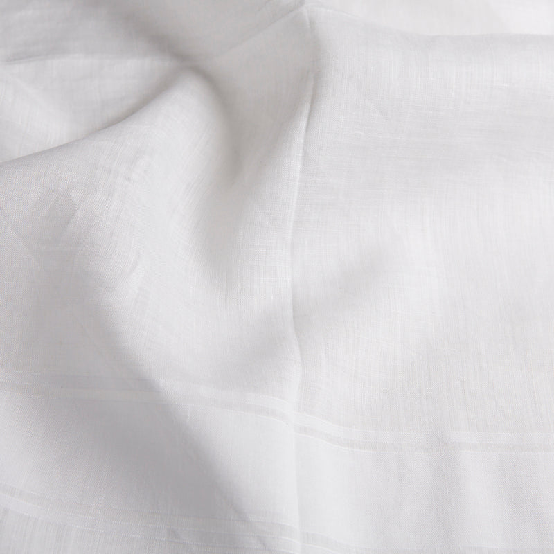 White Archive Abancourt Cotton/Linen Handkerchief