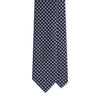 Navy Flower Print Self-Tipped Silk 8cm Tie