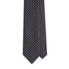 Grey Neat Print Self-Tipped Silk 8cm Tie