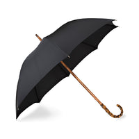 Bamboo One-Piece Umbrella with Solid Black Canopy