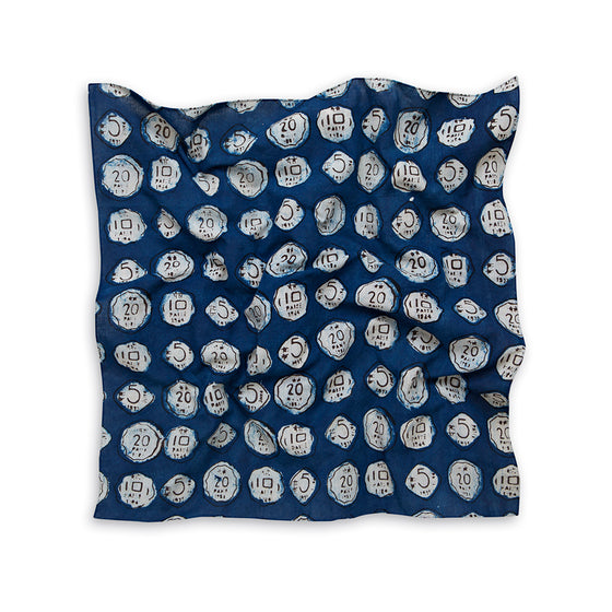 Coin Print Natural Dyed Hand Block Neckerchief