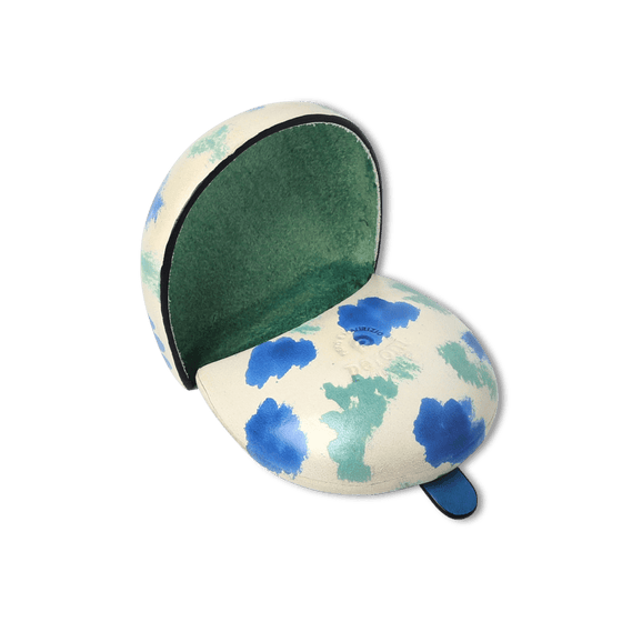 Green and Blue Hand Painted Iconic Coin Case - Exquisite Trimmings