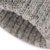 Light Grey Donegal Wool Ribbed 3 Gauge Knit Hat