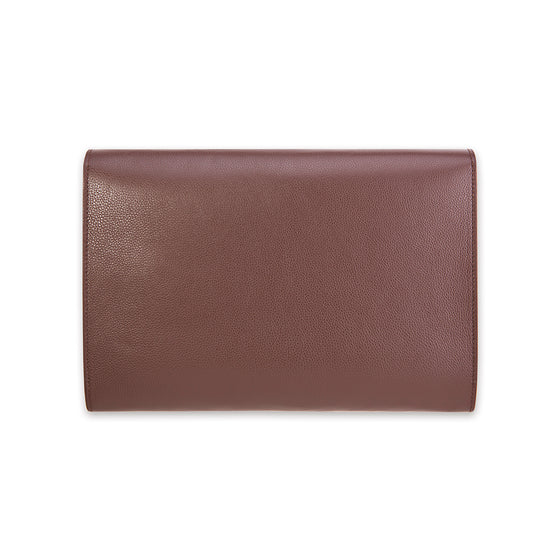 Chocolate Brown Carlyle Calf Leather Portfolio