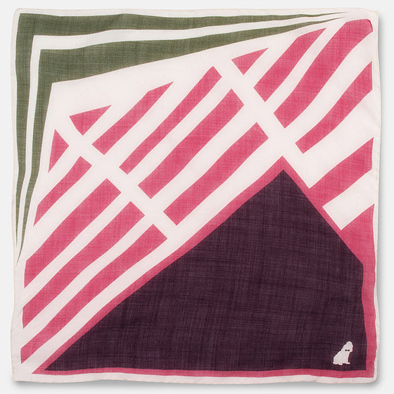 Sri Lanka Hand-Rolled Pocket Square