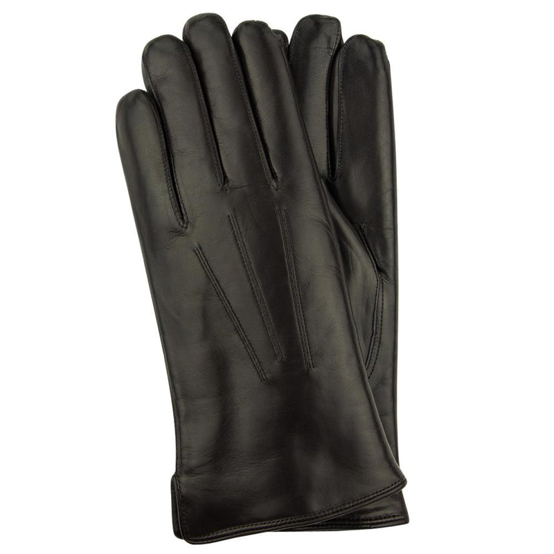 Black Hairsheep Leather Gloves with Sherling Wool Lining(Size 9) - Exquisite Trimmings