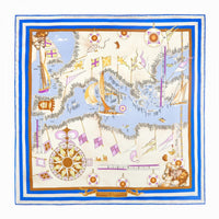 Cobalt Blue Mediterraneo Pocket Square - Exquisite Trimmings