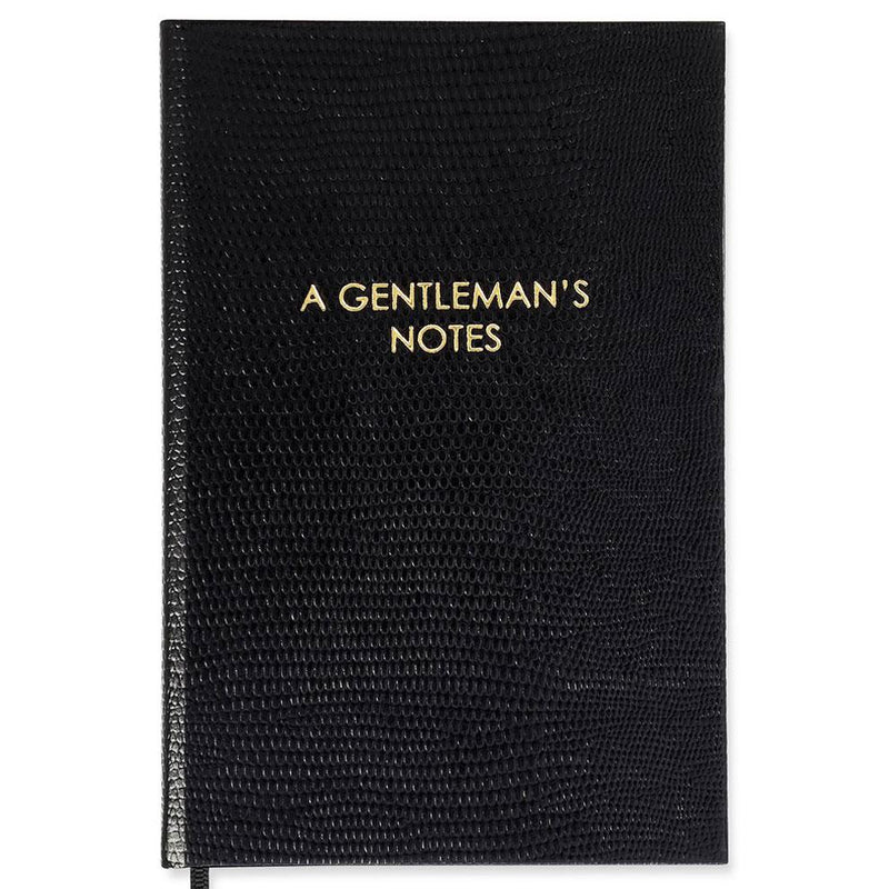 A Gentleman's Notes Pocket Notebook - Exquisite Trimmings