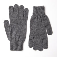 Solid Grey Merino Wool Gloves - Exquisite Trimmings