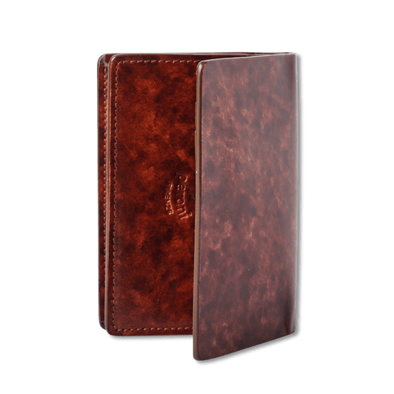 Brown Antiqued Classic Card Holder Wallet - Exquisite Trimmings