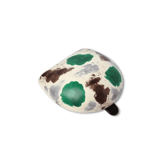 Green and Brown Hand Painted Iconic Coin Case - Exquisite Trimmings