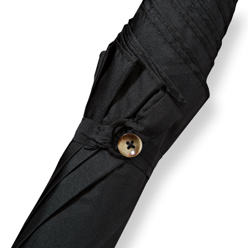 Malacca Handle Umbrella with Classic Black Canopy