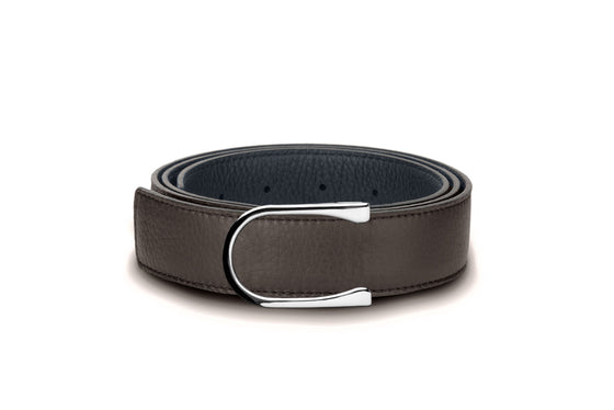 Navy & Ebony Reversible Bull-Calf Leather Belt