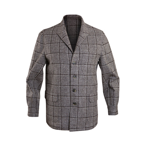 Marling & Evans Grey Check Wool Teba Jacket