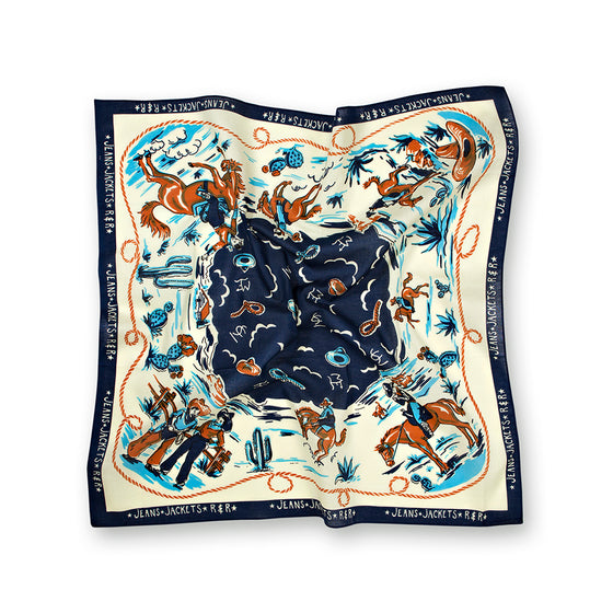 Navy Ranch Cotton Neckerchief