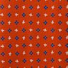 Orange Leaf Printed Silk Tie
