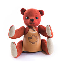 Red Suede Handmade Teddy Bear