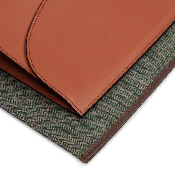 Brown Calf Leather Hand Made Portfolio - Exquisite Trimmings