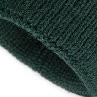 Emerald Green Alpaca Wool Blend Ribbed 2 Gauge Knit Hat