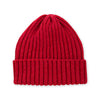 Red Alpaca Wool Blend Ribbed 2 Gauge Knit Hat