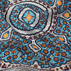 Blue Kaleidoscope Print Wool/Silk Pocket Square