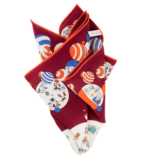 Wine Insomnia Handrolled Pocket Square - Exquisite Trimmings