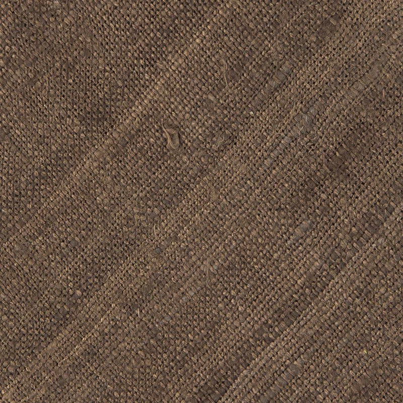 Solid Brown Handrolled Silk Tussah Tie - Exquisite Trimmings