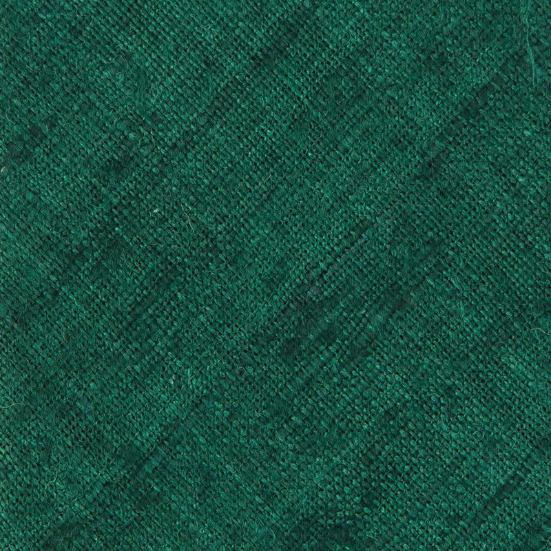 Solid Green Handrolled Silk Tussah Tie - Exquisite Trimmings
