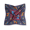 Navy/Wine Unicorn Printed Madder Silk Pocket Square