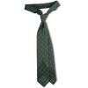 Bespoke Green Neat Printed Wool Tie - Exquisite Trimmings