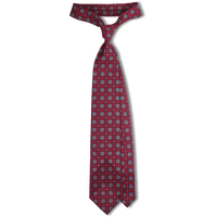 Bespoke Wine Tile Printed Wool Tie - Exquisite Trimmings