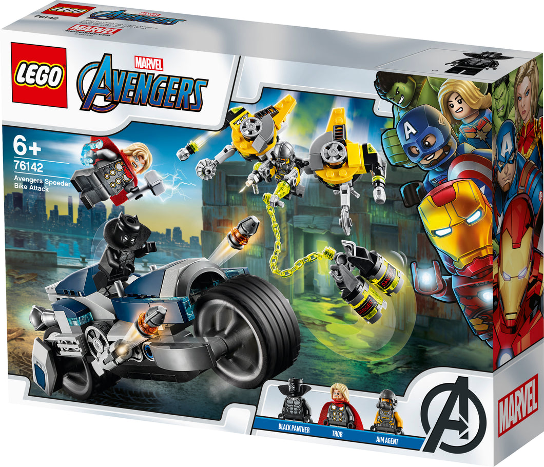LEGO®Avengers Speeder Bike Attack 76142