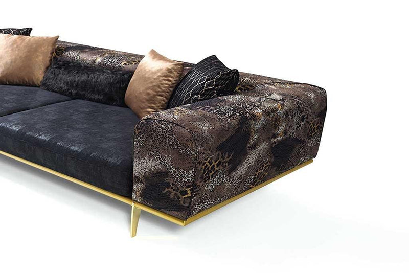 Milano Sofa Set in Leopard Print - 8ST (3 + 3 + 1 + 1) - Fundiz Shop