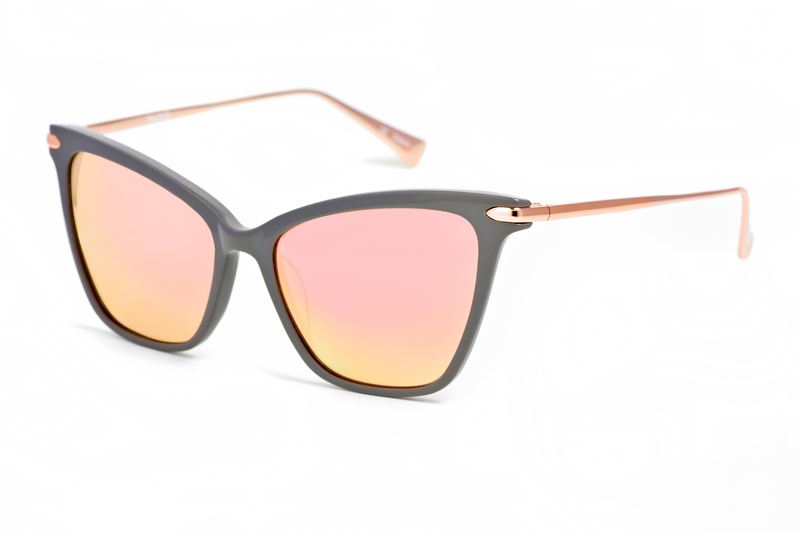 Hadid Eyewear | Jetsetter Sunglasses | Grey & Rose Gold - Hadid Eyewear