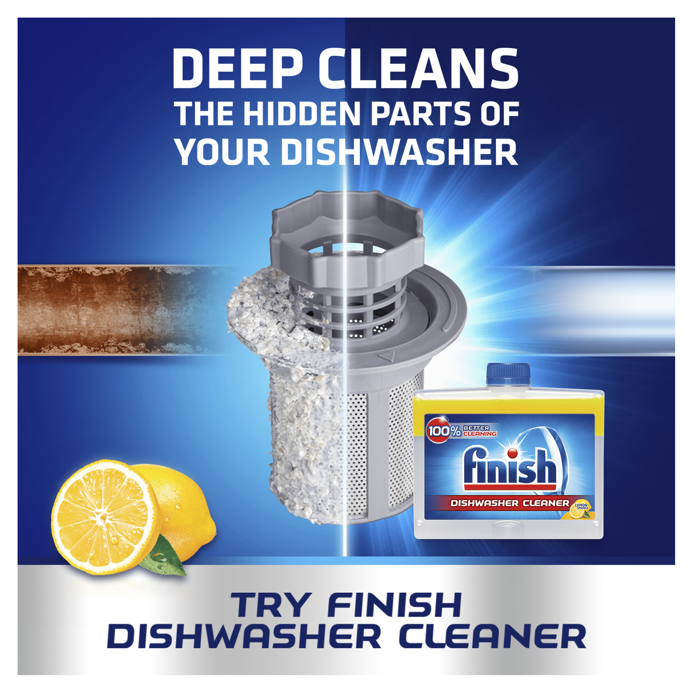 FINISH Dishwasher Cleaner Lemon clean
