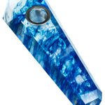 Blue Melted Quartz Stone Pipe