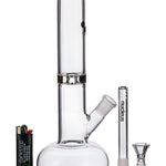 Clear Glass Buoy Base Water Pipe