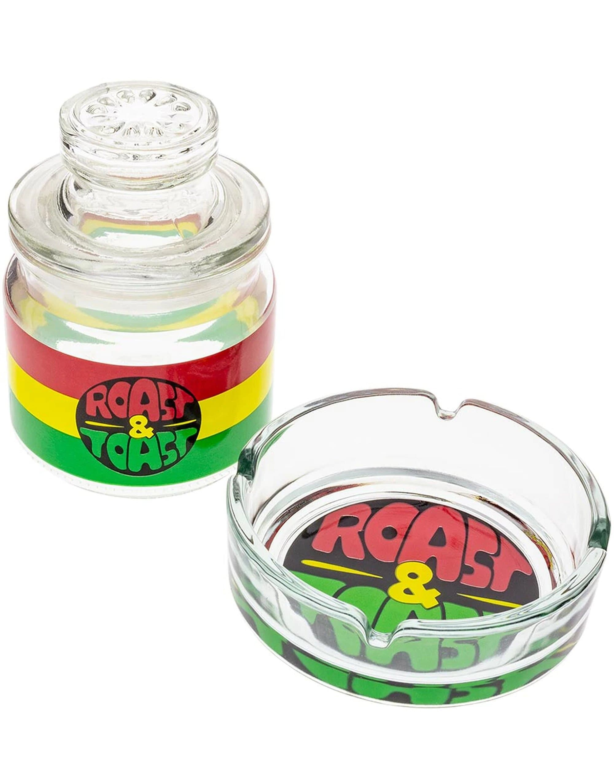 Premium Roast & Toast - Stash Jar & Ashtray Set