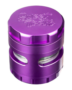 Purple 4-Piece Large Radial Teeth Aluminum Grinder