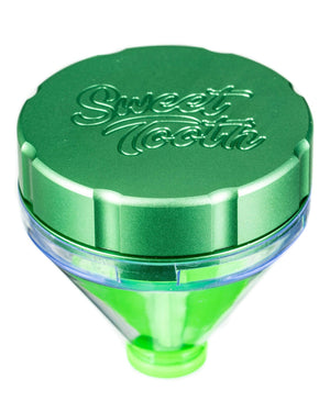 "Green ""Fill 'er Up"" Funnel Style Aluminum Grinder"