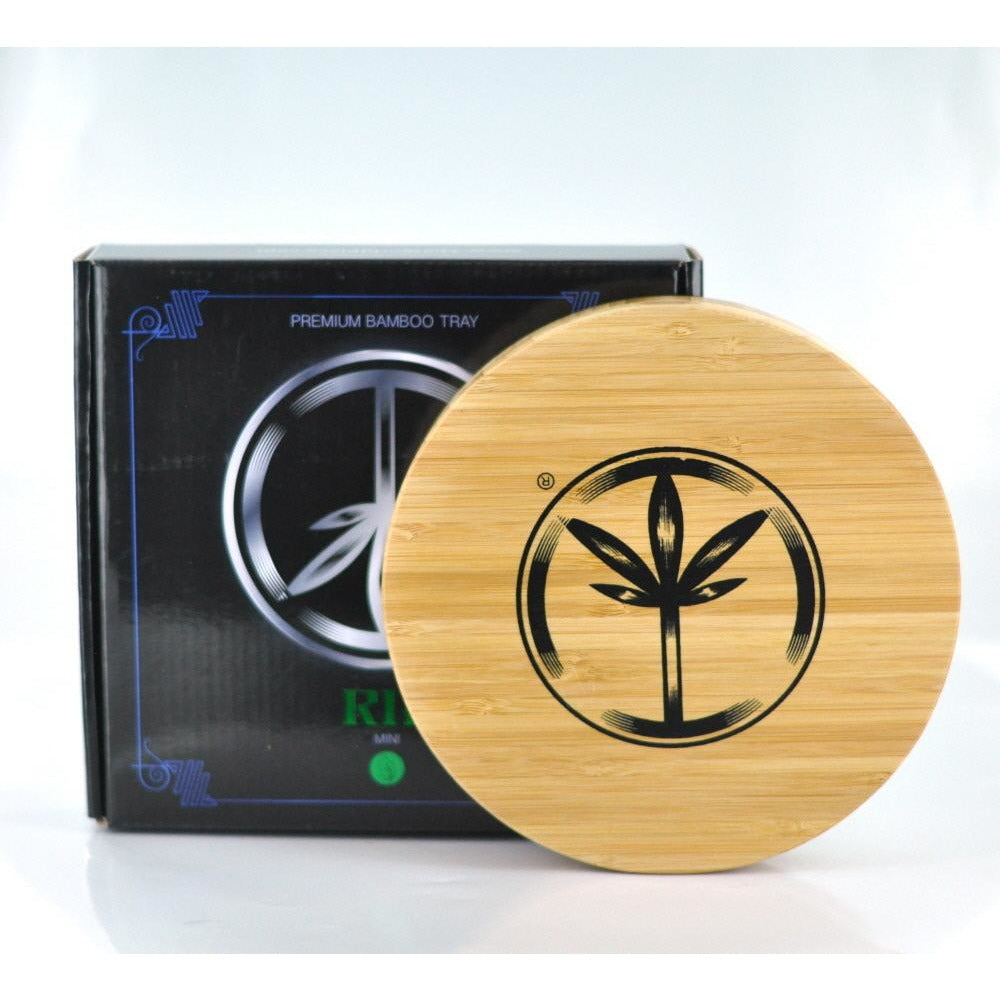 World Piece Bamboo Rolling Tray - RIP MINI - HeadShop2Go.com