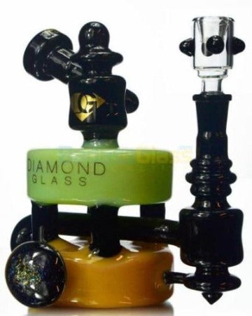 XL Double Stack Wormhole Dab Rig - HeadShop2Go.com