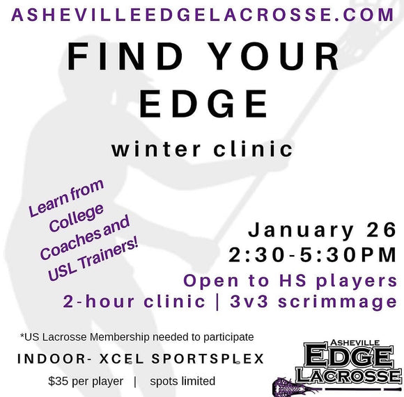 Ashevile Edge Lacrosse Winter Clinic